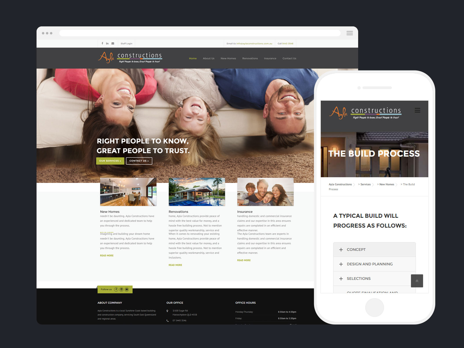 Web Design - Ayla Constructions