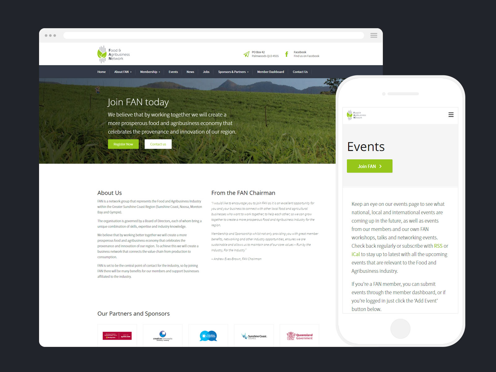 Web Design - Food & Agribusiness Network