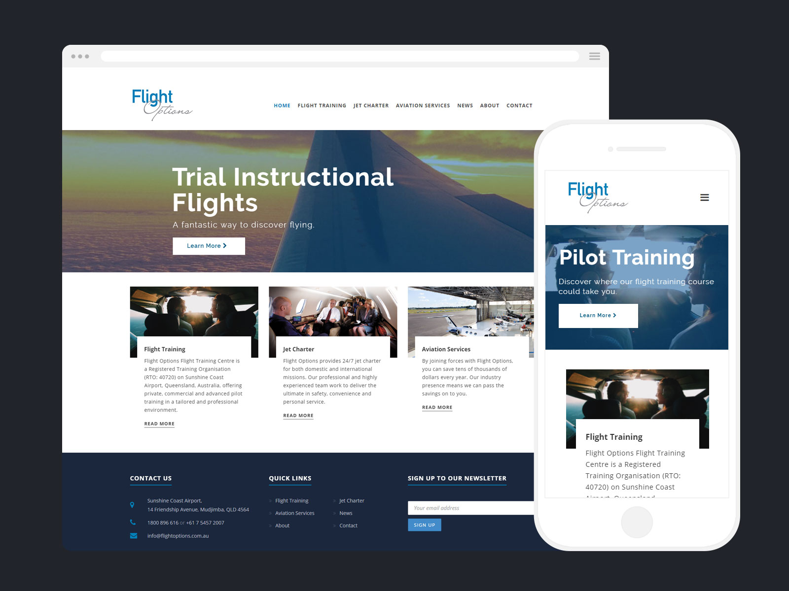 Web Design - Flight Options