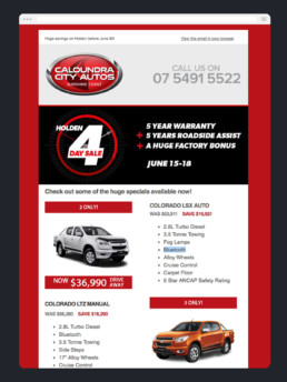 Email Marketing - Caloundra City Autos