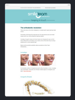 Email Marketing - SmileTeam Orthodontics